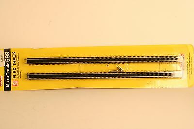 "Z Scale Micro Trains 599 Micro Track Flex Straight Track 10 - 12.5"" Sections"