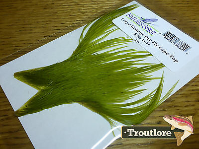 Nature's Spirit Olive Genetic Dry Fly Hackle Cape Top - New Whiting Feathers