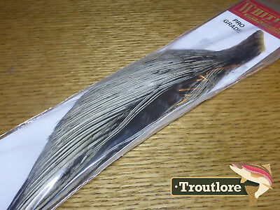 Whiting Farms Dry Fly Golden Badger Half Neck Fly Tying Rooster Cape Feathers