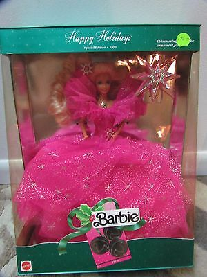 Collectible Special Edition Happy Holidays Barbie 1990 MIN NIB MINT