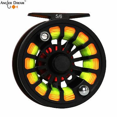 3/4 5/6 7/8WT Fly Fishing Reel Large Arbor Black CNC Machined Aluminum Fly Reel