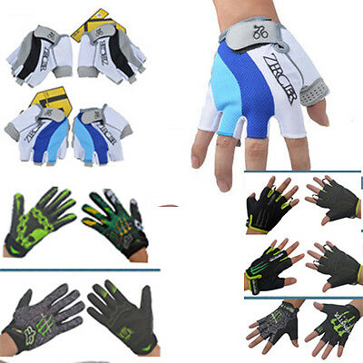 Bicycle MTB Bike Riding Cycling Half Gloves Silicone gel pads Absorb Sweat Cloth