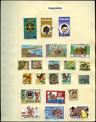 Tanzania Album Page Of Stamps #V5328