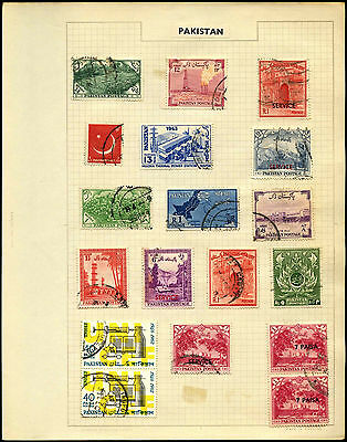 Pakistan Album Page Of Stamps #V5373