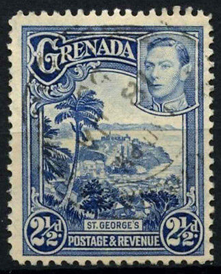 Grenada 1938-50 SG#157, 2.5d Bright Blue KGVI P12.5 Used #D52158