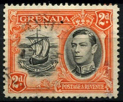 Grenada 1938-50 SG#156, 2d Black And Orange KGVI P12.5 Used #D52160
