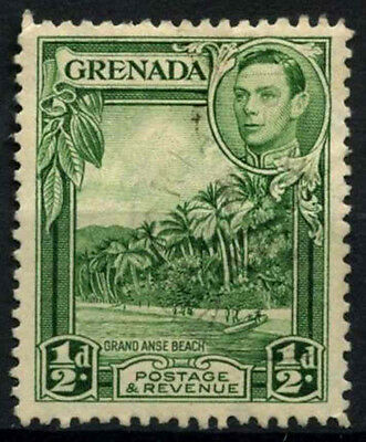 Grenada 1938-50 SG#153, 1/2d Yellow-Green KGVI P12.5 Used #D52189