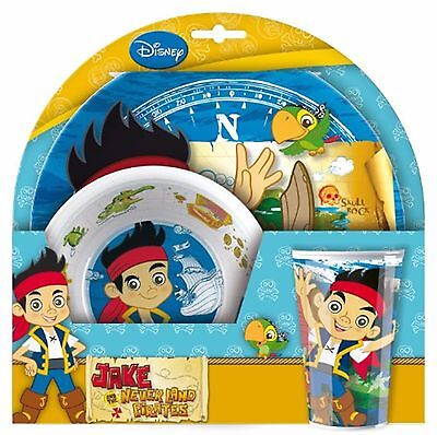 Jake and the Neverland Pirates Melamine Dinner Set Plate Bowl Cup Kids Mealtime