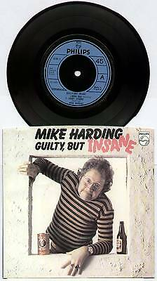 """Mike Harding ~ Guilty, But Insane ~ 1977 Uk 3-Track 7"""" Ep Single + P/s"""
