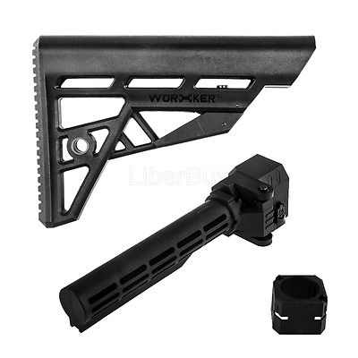 Worker Mod F10555 Shoulder Stock Stock Adapter Attachment for Nerf Stryfe Toy