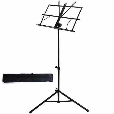 High Quality Portable Black Folding Music Stand with Carry Bag