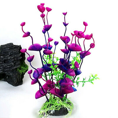 Plastic Aquatic Aquarium Fish Tank Flower  Plant Plastic Decoration Ornament