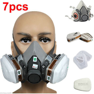 7 in1 3M 6200Suit Spray Paint Dust Mask Vapour Particulate Reusable Respirator