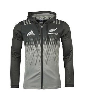 New Zealand All Blacks 2017 Players Hoodie/Hoody Full Zip Jacket Size S-3XL!