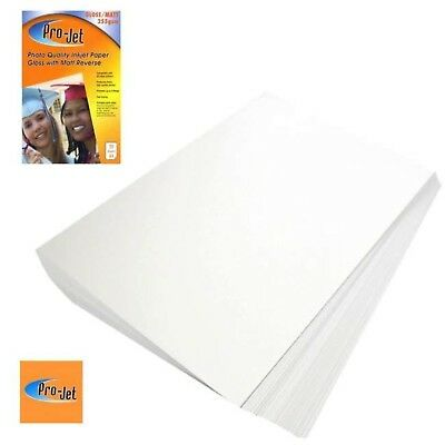 Pro-Jet Gloss Matte Double Sided A4 Inkjet Photo Paper 255gsm - 20 Sheets