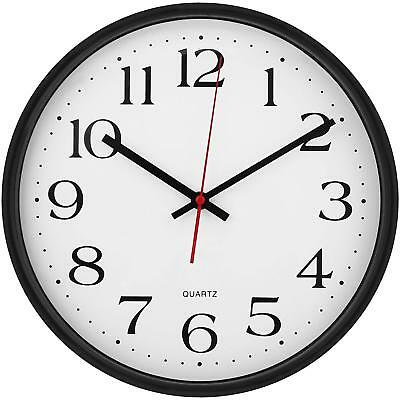 Large Wall Clock Silent & Non-Ticking - Indoor/Outdoor Modern Quart Utopia Home