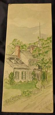 BEAUTIFUL Vintage Original Gladys Thatcher Watercolor Painting - UNFRAMED - NICE