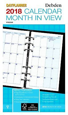 2018 Debden Personal Dayplanner REFILL Month in View PR2300-18 96x172mm NEW
