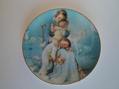 Squeezing In Danbury Mint Collector's Plate Young Innocence Series 1991