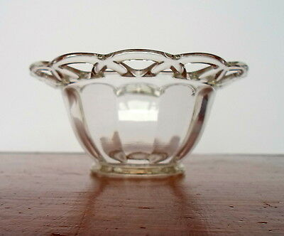 "Vintage Lacy Rim Clear Glass Bowl 5 1/2"" Wide by 2 1/2"" Tall"