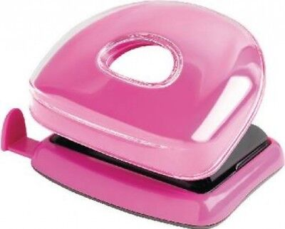 Rexel JOY 2 Hole Punch 10 Sheet Desk Paper Pretty Pink | Home Office