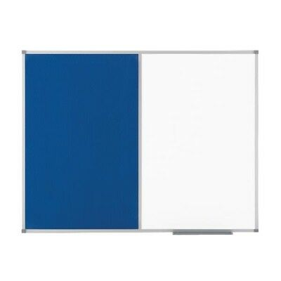Nobo Elipse Combination Board Magnetic Dry Wipe/Blue Felt 900x600mm 1902257