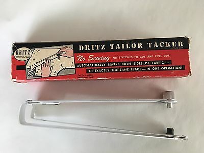 Vintage 1948 Dritz TAILOR TACKER Sewing Accessory Holds & Marks Fabric in Box
