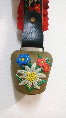 JAPANESE VINTAGE Leather and Multi-colors Lace Hanging Door Bells Collectible