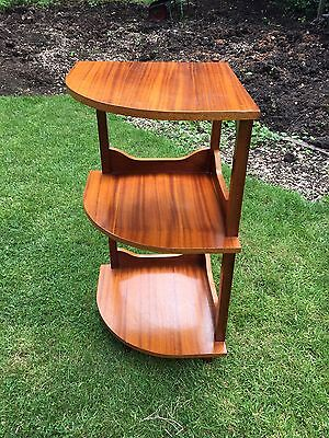 Mid century Modern Shelf Corner Unit Scandi Style 1960s