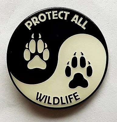 'protect All Wildlife' Pin Badges