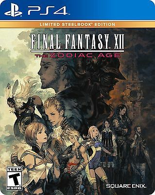 Final Fantasy XII The Zodiac Age Limited Steelbook Edition - PlayStation 4 NEW