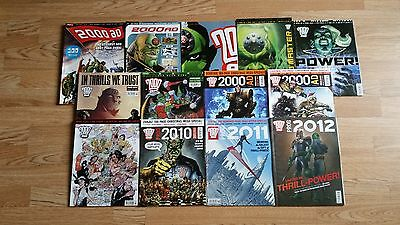 2000ad comic end of year issues 2000 to 2012