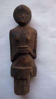 Antique Dayak Carved Bottle Stopper - Authentic Tribal Art - Kalimantan