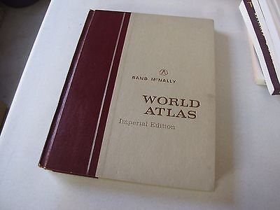 Vintage Rand Mcnally World Atlas Imperial Edition 1968