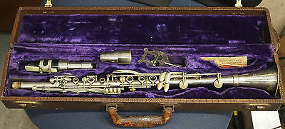 Vintage Emil Jardin Paris Metal Clarinet & Case