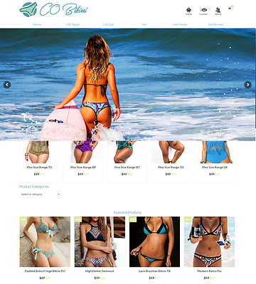 Bikini Swimwear Turnkey Dropship Business Website FREE LIFETIME WEB HOSTING