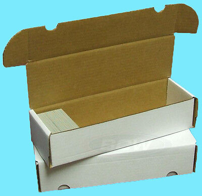 1 BCW 660 COUNT CARDBOARD CARD STORAGE BOX Trading Sports Holder Case Baseball