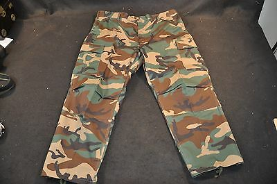 NEW Rothco Woodland Camo BDU Pants X-Large Short Cargo Trousers 55/45, no tags
