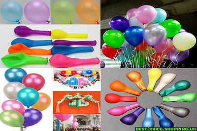 100 Plain Balons New Ballons Helium & Air Balloons Super Quality Party Birthday