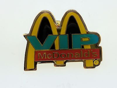 McDonald's V.I.P. Pin Very Important Person Logo Golden Arches Employee Crew VIP