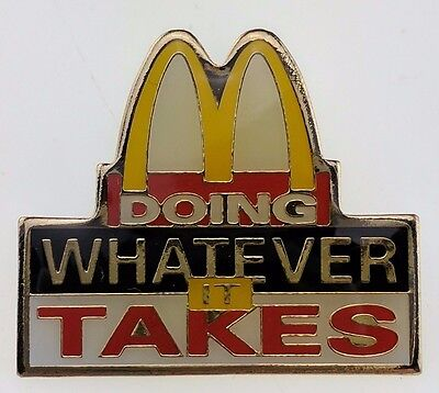 McDonald's Doing Whatever It Takes Pin Golden Arches Hurricane Floyd 1999 Badge