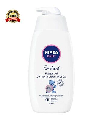 NIVEA Baby Emolient, a gel for washing the body and hair from the first day