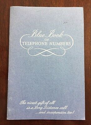 Vtg The Bell Telephone Co.Pennsylvania Blue Book of telephone numbers booklet