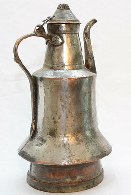 Antique Large Hand Made Copper Tea or Coffee Pot