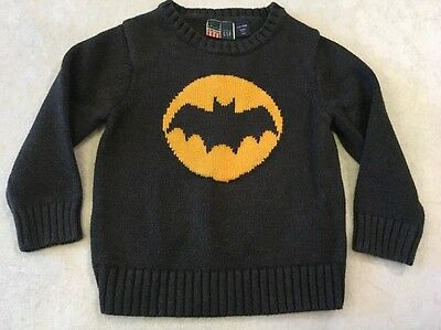 Baby Gap Junk Food Batman Sweater 3T Grey Yellow