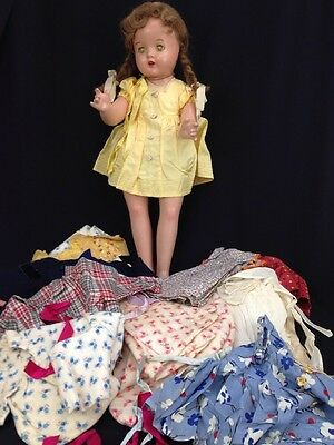 Vintage 1942 Madame Alexander Special Girl Doll Composition Cloth Clothes 24""