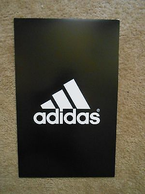 """Adidas Poster Store Advertising Display Double Sided Thin Cardboard Sign 14""""x22"""""""