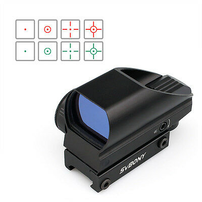 AU New Red&Green Tactical Dot Sight 5 Levels of Brightness 4 Reticle Scope Sight