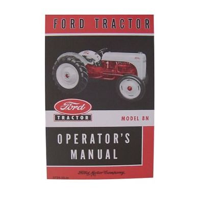 Owners Manual for Ford Tractor 8N