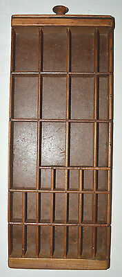 Vintage Letterpress Type Tray Shadow Box, Section of larger drawer ready to hang